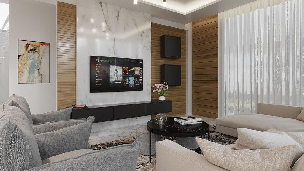 Contemporary design villas in protaras