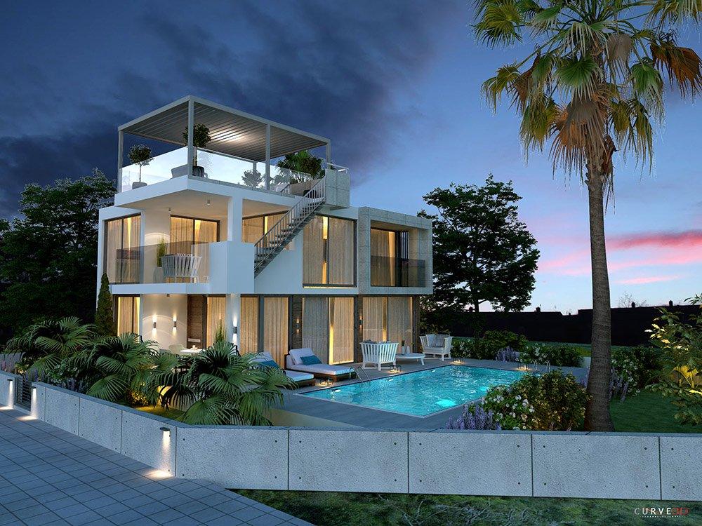 permanent residence villa for sale in protaras