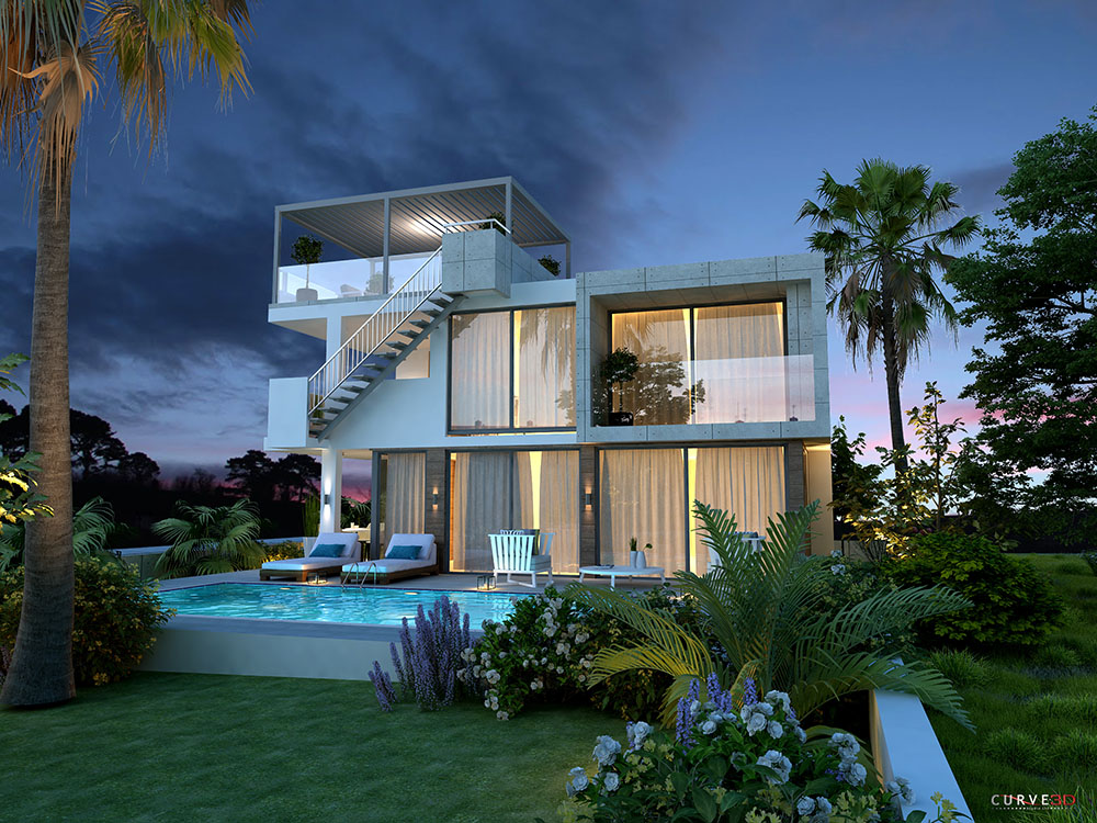 4 bedroom modern villas for sale in protaras