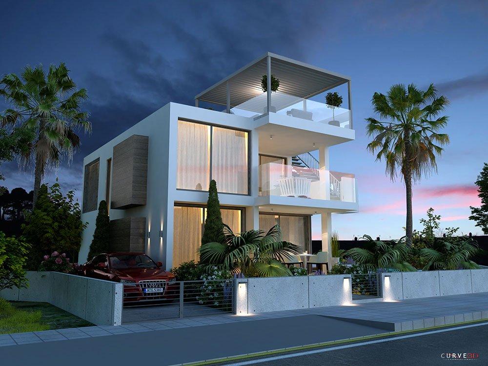 contemporary 4 bedroom villas in protaras