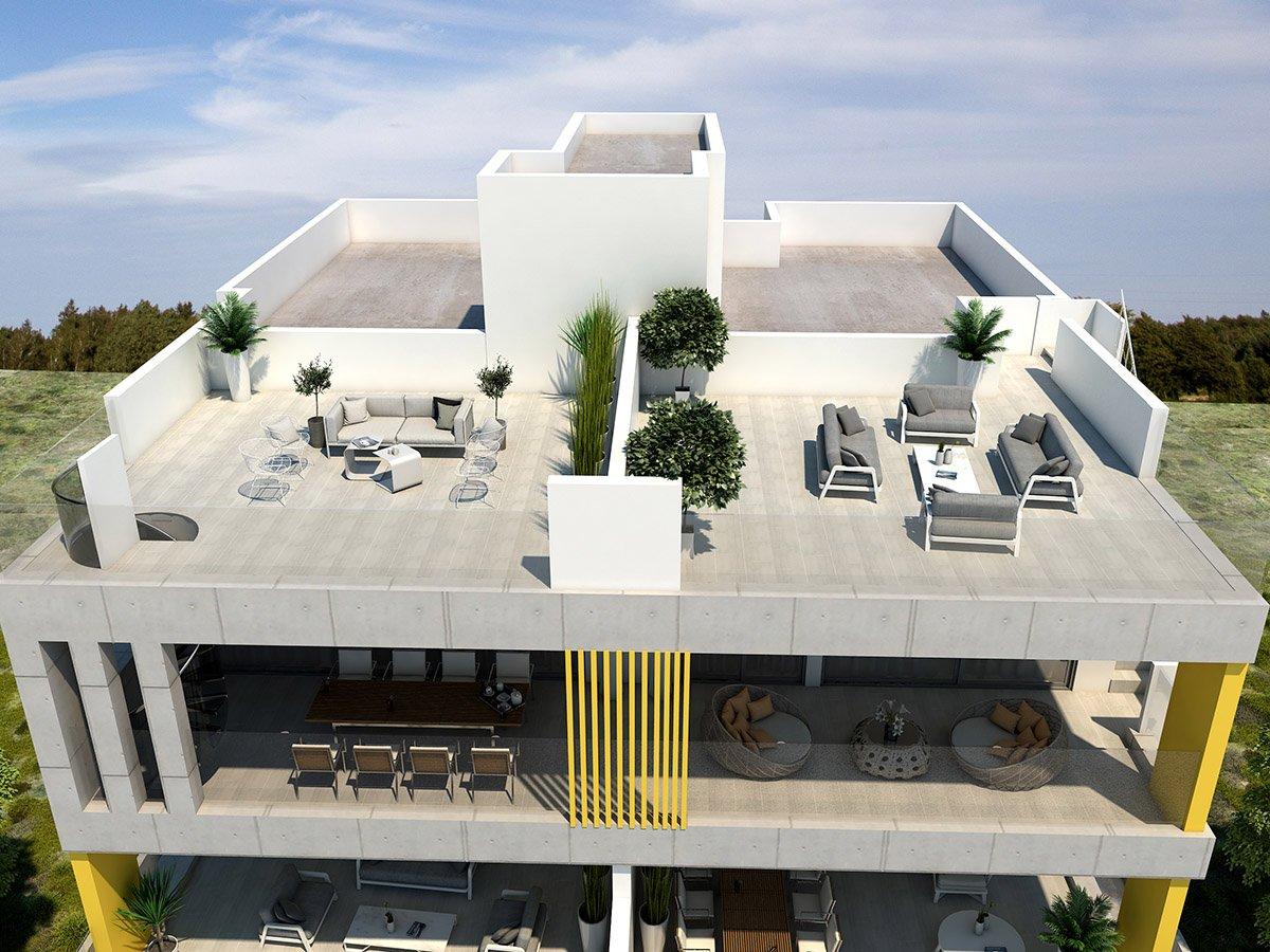 apartments with roof garden inengomi